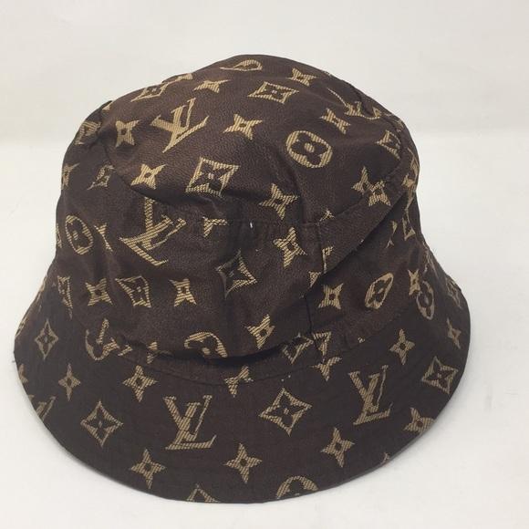 Louis Vuitton Accessories - Small Louis Vuitton Monogram Bucket Rain Hat acea0f312c7